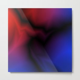 Cosmic sparkling hole of blue zigzags and red spots. Metal Print