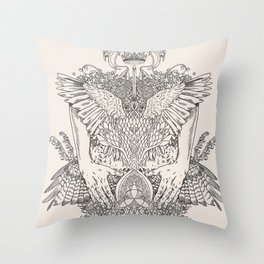 The Ravenous Throw Pillow
