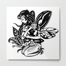 Beetle Harp Metal Print