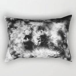 Black and White Tie Dye & Batik Rectangular Pillow