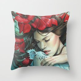 The Disappearance of The Girl Throw Pillow