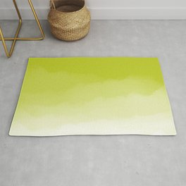 Chartreuse Watercolor Ombre (chartreuse/white) Rug