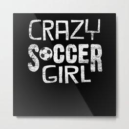 Soccer Girl Metal Print