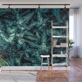green leaves texture abstract background Wall Mural