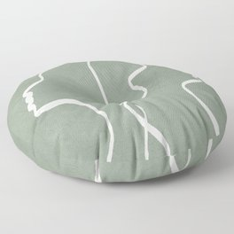 Abstract Faces Floor Pillow