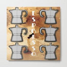 Stovetop Italian Espresso Maker Metal Print