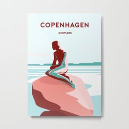 LITTLE MERMAID - COPENHAGEN Metal Print