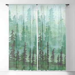 Deep in the pine woods Sheer Curtain