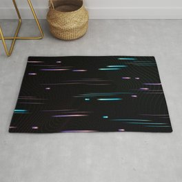 Universe Portal Glitch Synthwave Lines Rug