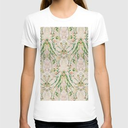 Green Pink Leaf Flower Paisley T-shirt