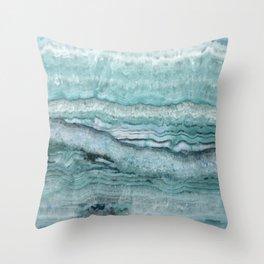 Mystic Stone Aqua Teal Throw Pillow