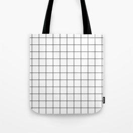 Grid Pattern Stripes Lines Black and White Minimalist Geometric Stripe Line Tote Bag