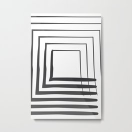 ABSTRACT ART Perspective | Square Metal Print