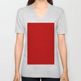 Bright red Unisex V-Neck