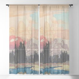 Storms over Keiisino Sheer Curtain