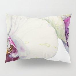 Cream & Fuchsia Phalaenopsis Orchids Pillow Sham