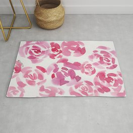 5  |  190411 Flower Abstract Watercolour Painting Rug