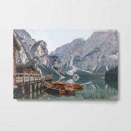 Day at the Mountain Lake Metal Print