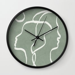 Abstract Faces Wall Clock