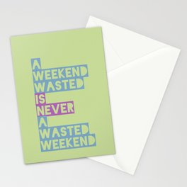 A Weekend Wasted (Colour) Stationery Cards