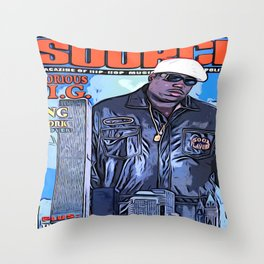 The source cover number 70 The Notorious B.I.G. Throw Pillow