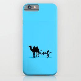Blue Humping iPhone Case
