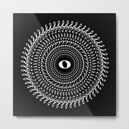 Music mandala no 2 - inverted Metal Print