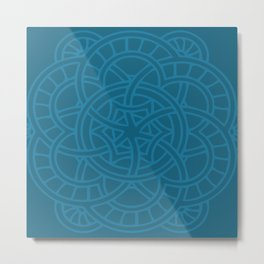 Modern abstract painting blue tones texture Metal Print