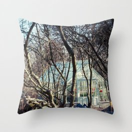 Stockholm: Skansen Greenhouse Throw Pillow