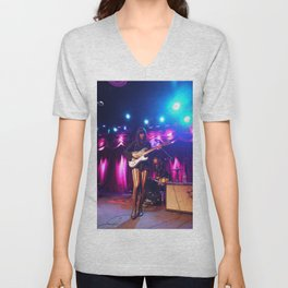 Dum Dum Girl at Brooklyn Bowl, New York Unisex V-Neck