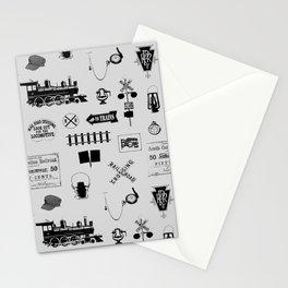 Railroad Symbols // Light Grey Stationery Cards