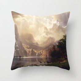 Albert Bierstadt - Among the Sierra Nevada, California Throw Pillow