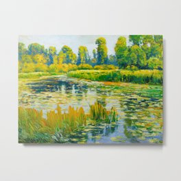 Václav Radimský (1867-1946) Water Lilies Impressionist Landscape Painting Bright Colors Oil Metal Print