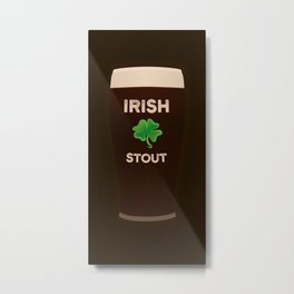 Irish Stout Metal Print