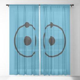 Dr Manhattan Sheer Curtain