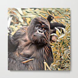 ArtAnimal Gorilla Metal Print