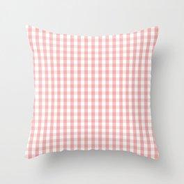 Large Lush Blush Pink and White Gingham Check Throw Pillow