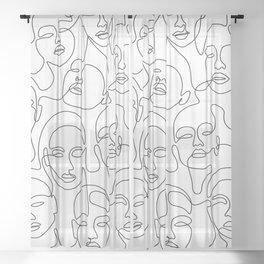 Crowded Girls Sheer Curtain