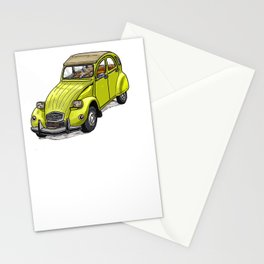 Yellow 2CV Stationery Cards