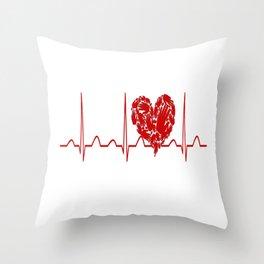 Social Worker Heartbeat Throw Pillow