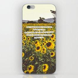 Jeremiah Sunflowers iPhone Skin