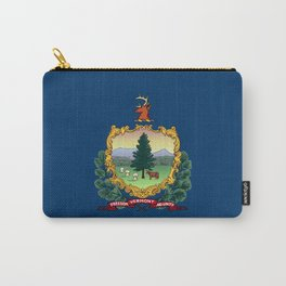 Vermont Flag Carry-All Pouch