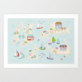 Summer On The Islands Art Print