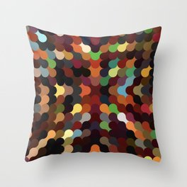 carly - vivid colourful playful modern abstract pattern Throw Pillow