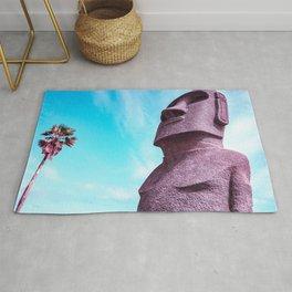Japan's Easter Islands in Miyazaki| Moai Statues Rug