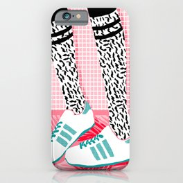 Aiight - sports fashion retro throwback style 1980s neon palm springs socal country club hipster iPhone Case