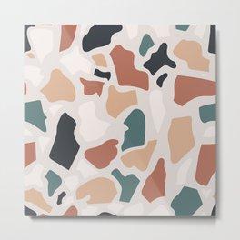 Abstract Terrazzo Metal Print