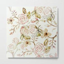 Vintage floral  Metal Print