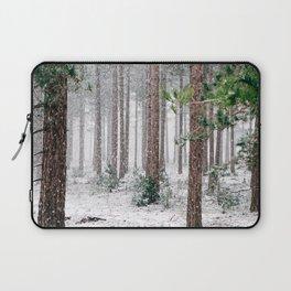 Snowy Pine trees Laptop Sleeve