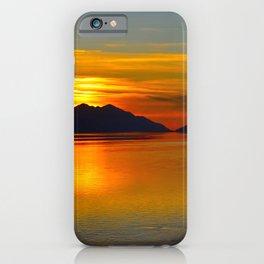 Alaskan Sunset Silhouette - Turnagain Arm iPhone Case